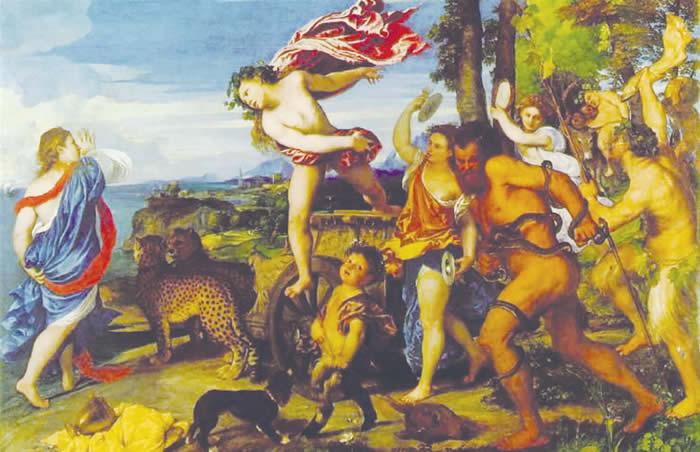 www.revistafilosofia.com.br  - 700 × 452 - Pesquisa por imagem Baco e Ariadne, por Ticiano, encontra-se no museu National Gallery de Londres. Na mitologia, Ariadne ajuda Teseu por amor, ele parte de navio e a abandona ..