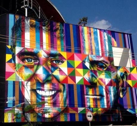 grafite apagado pelo prefeito eleito Dória Gray...